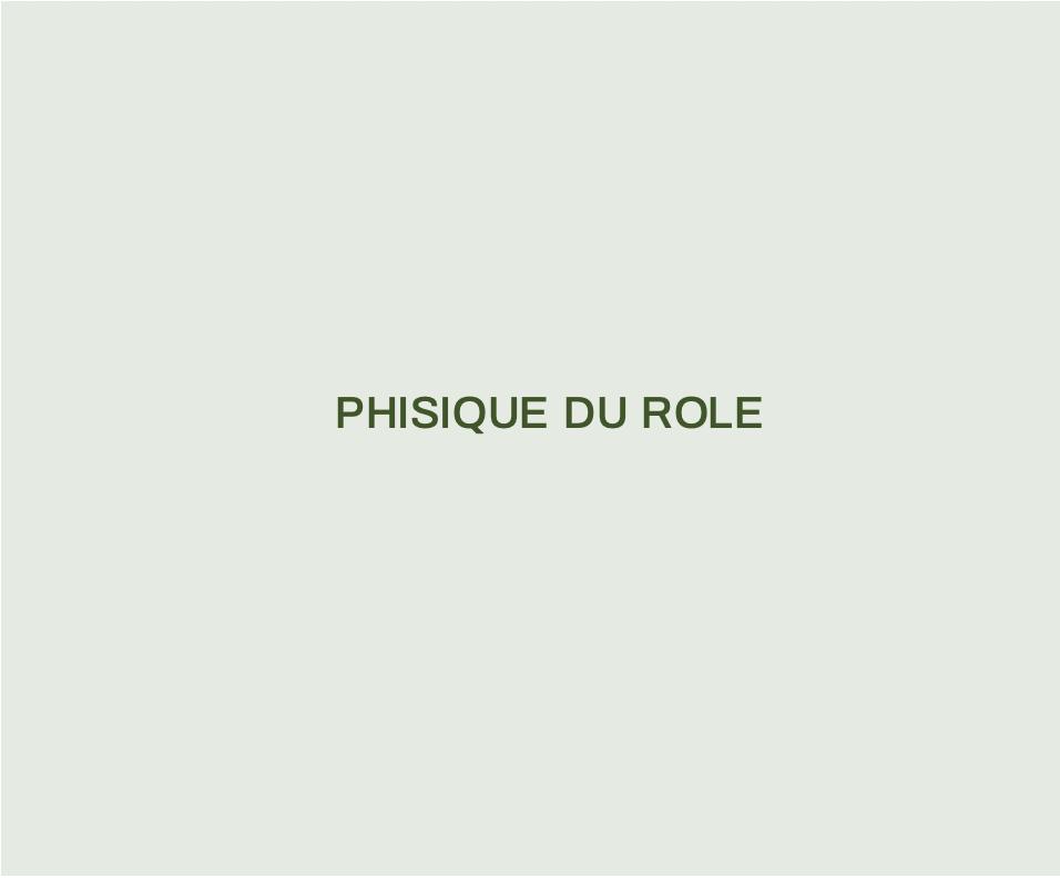 Phisique du Role